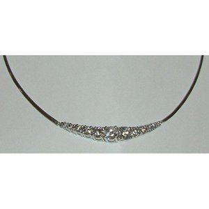Women 3.7 Carats Diamond Necklace Pendant White Go